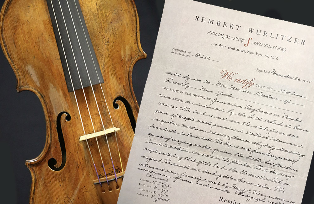Authentication and Certification of Fine Stringed Instruments